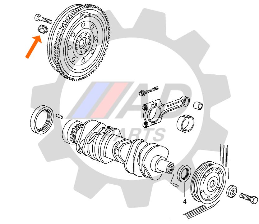 Rolamento Volante Motor CHEVROLET S10 (2.8TD) de 2000 até 2011