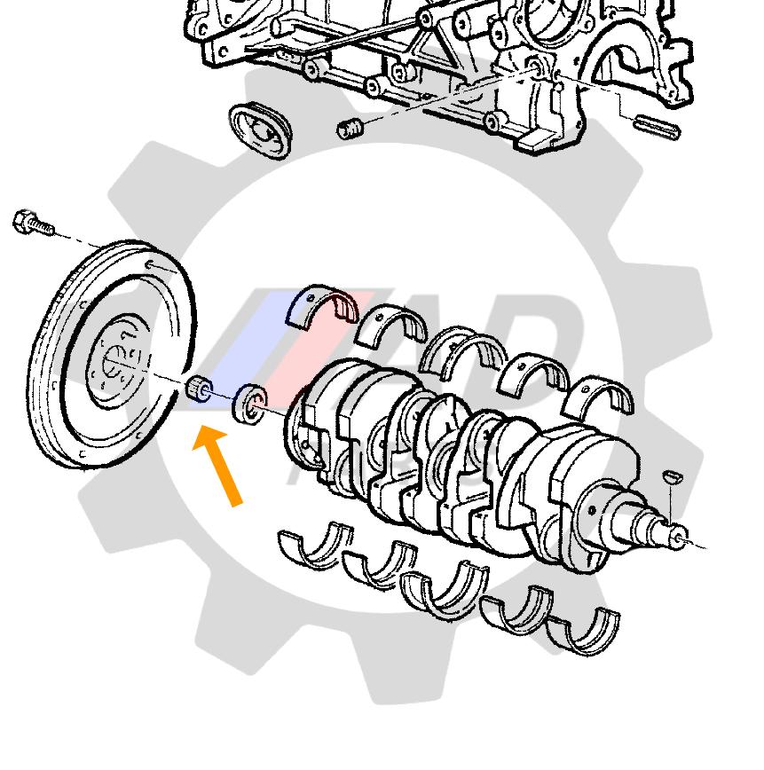 Rolamento Volante Motor VW Kombi de 1957 até 2005