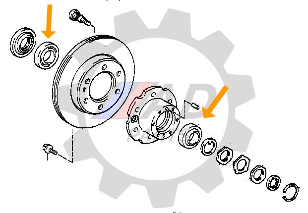 Rolamentos da Roda Dianteira JAC T8 2014 até 2018