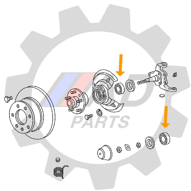 Rolamentos Roda Dianteira VW Kombi 1955 até 1966