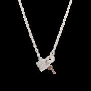 Choker com Mini Cadeado Coração e chave