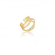 Piercing fake grande banhado a ouro quatro arcos