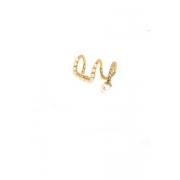 Piercing fake com micro pérolas banho Ouro