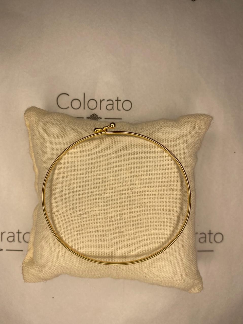 Bracelete liso banhado a ouro