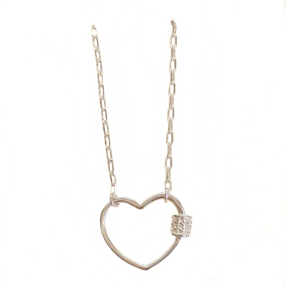 Choker Pingente de Coração prata