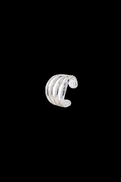 Piercing fake quatro aros ródio prata