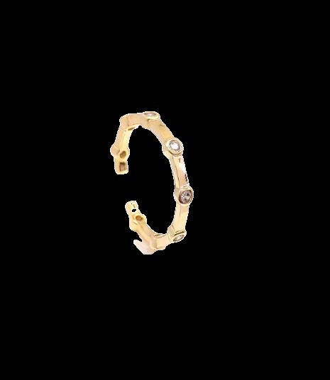 Piercing fake Sextavo Grande Banhado Ouro