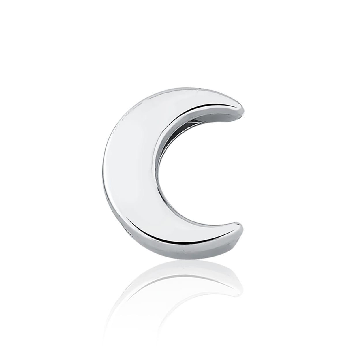 Pingente Esteira de Lua Liso em Aço