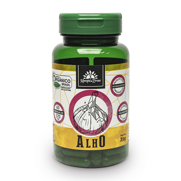 Cápsulas de Alho orgânico (60cps de 570mg)