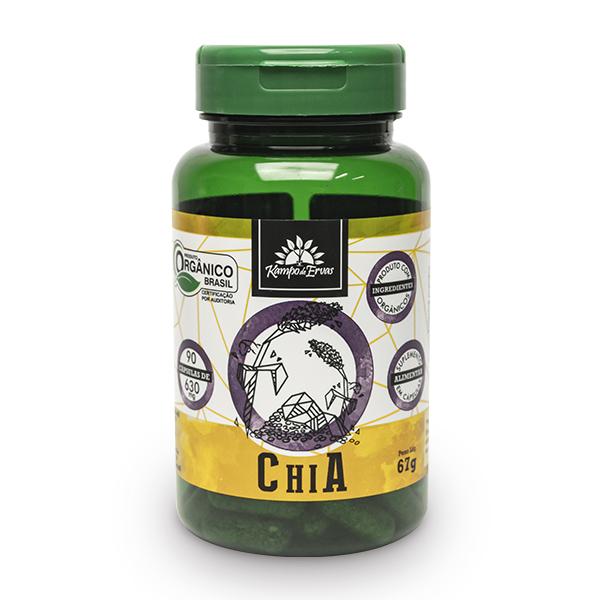 Cápsulas de Chia orgânica (90cps de 630mg)