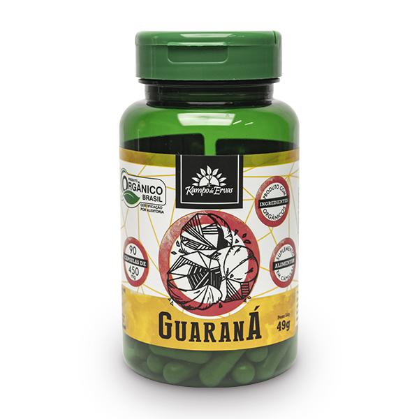 Cápsulas de Guaraná orgânico (90cps de 450mg)