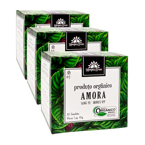 Kit 3cx – Amora orgânica sachê (30 unid.)