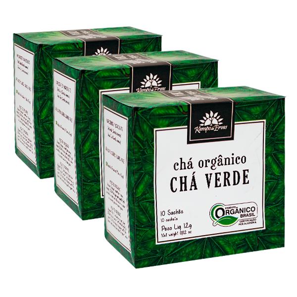 Kit 3cx – Chá Verde orgânico sachê (30 unid.)