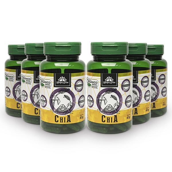 Kit Cápsulas de Chia orgânica (6 potes)
