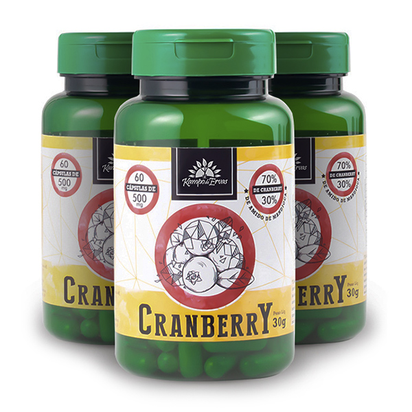 Kit Cápsulas de Cranberry (3 potes)