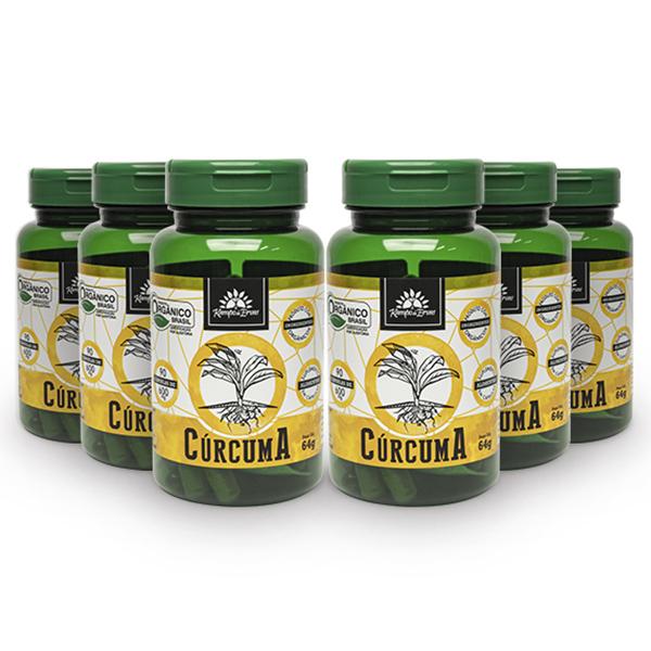 Kit Cápsulas de Cúrcuma orgânica (6 potes)