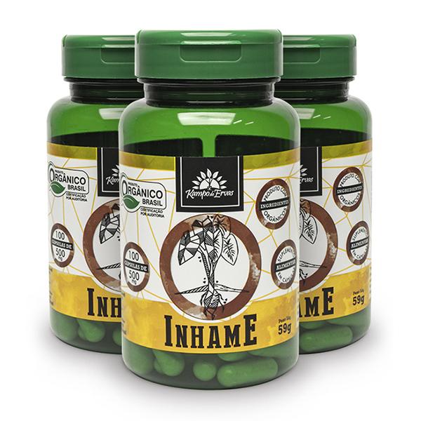Kit Cápsulas de Inhame orgânico (3 potes)