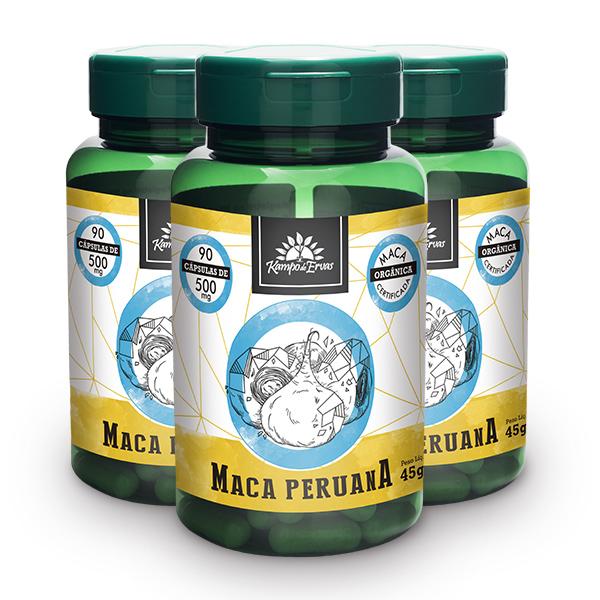 Kit Cápsulas de Maca Peruana (3 potes)
