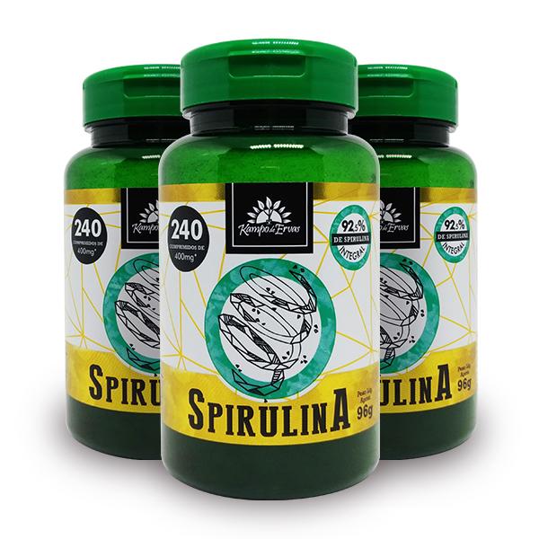 Kit Comprimidos de Spirulina 240 comp. (3 potes)