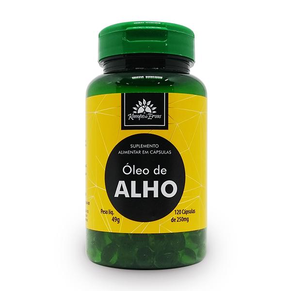 Óleo de Alho com 120 Cápsulas de 250mg
