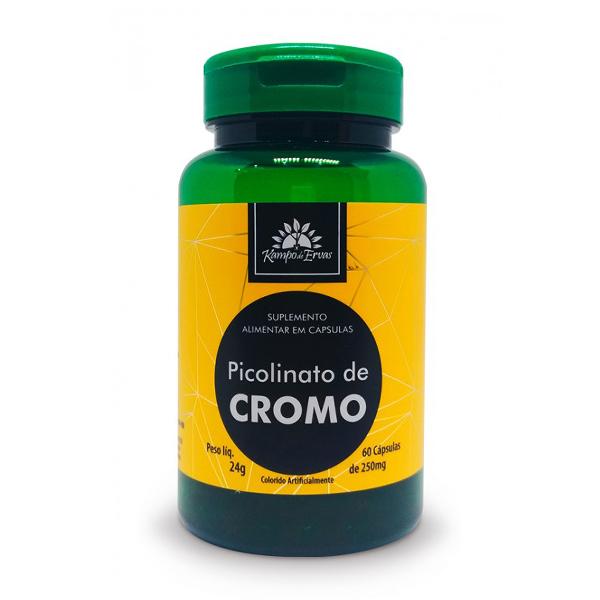 Suplemento de Picolinato de Cromo com 60 cápsulas de 250mg (35mcg)