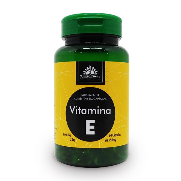 Vitamina E com 60 cápsulas de 250mg