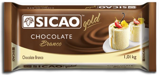 CHOCOLATE GOLD BARRA BRANCO 1,01KG