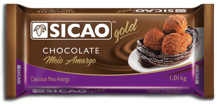 CHOCOLATE GOLD BARRA MEIO AMARGO 1,01KG