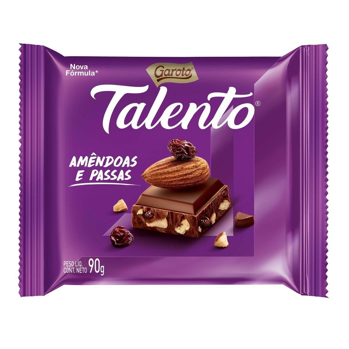 TALENTO AMENDOAS TAB 90G C/12 UNID