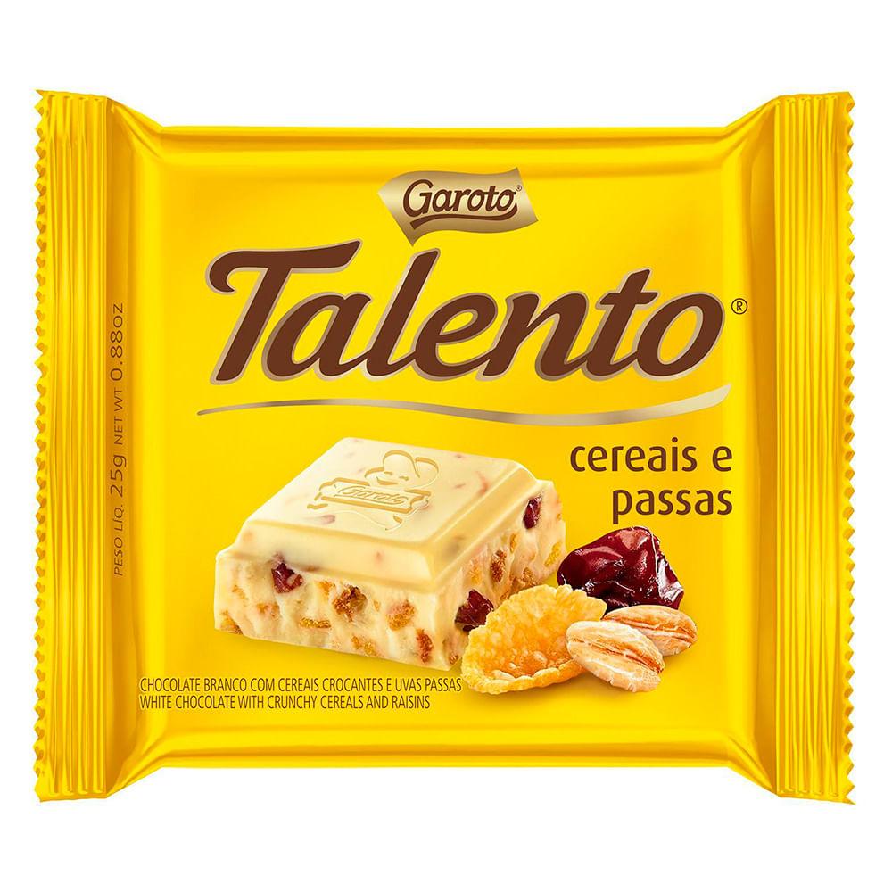 TALENTO BRANCO CEREAIS TAB 90G C/12 UNID