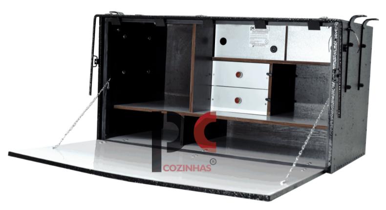 CAIXA DE COZINHA PC COZINHAS ECONÔMICA 2 ANDARES 1,17 X 0,63 X 0,64