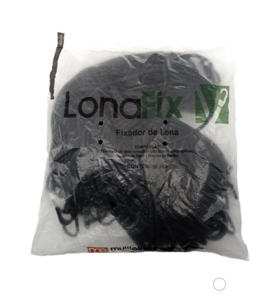 KIT LONAFIX PRETO 35CM COM 50 PCS