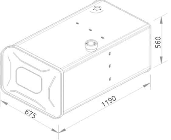 TANQUE INOX SCANIA T/R 113 / 143 397L LD