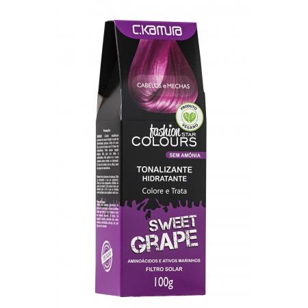Tonalizante Sweet Grape Roxo Fashion Star Colours Ckamura