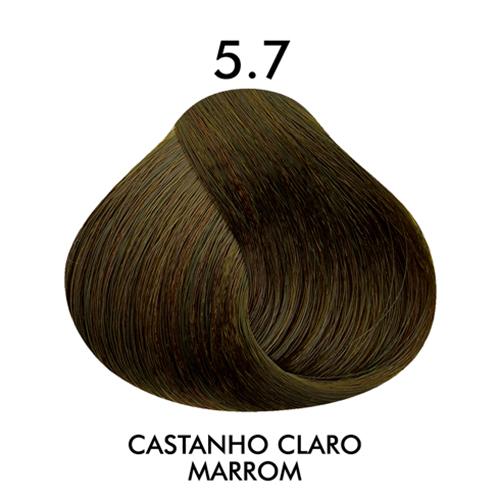 Coloração CKamura Castanho Claro Marrom 5.7 50g
