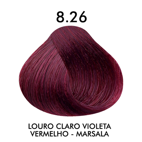 Coloração CKamura Louro Claro Violeta Vermelho - Marsala 8.26 50g