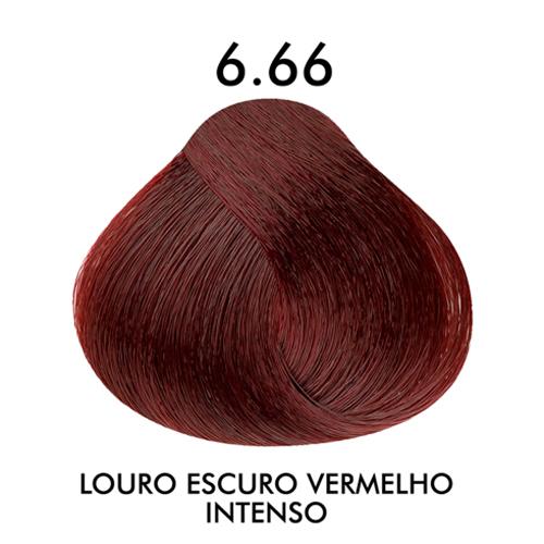 Coloração CKamura Louro Escuro Vermelho Intenso 6.66 50g