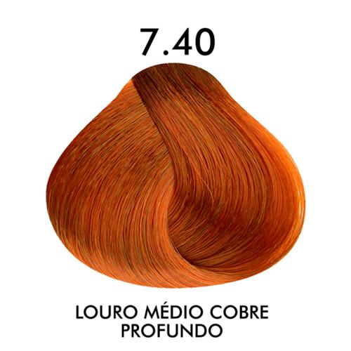 Coloração CKamura Louro Medio Cobre Profundo 7.40 50g