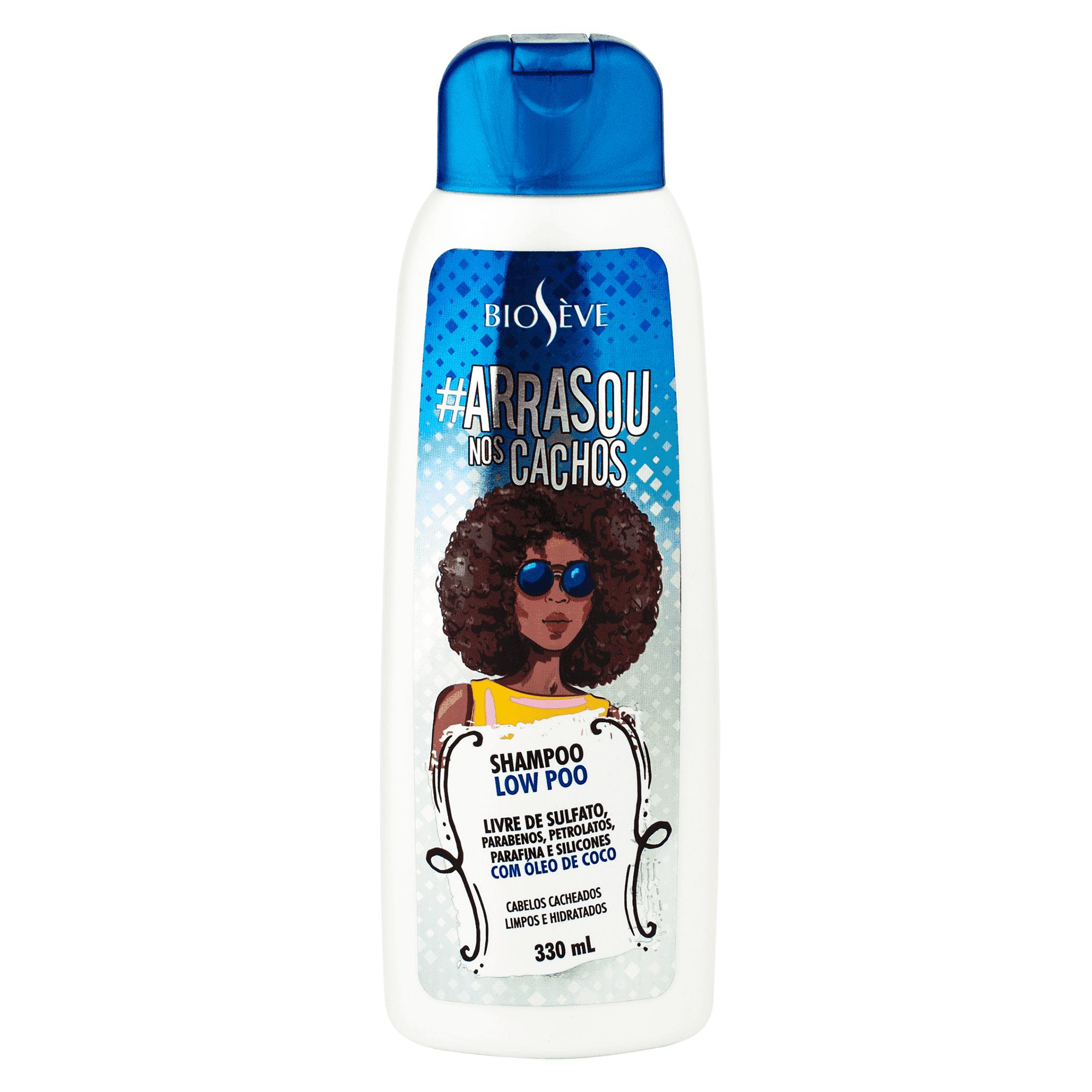 Shampoo Low Poo Arrasou Na Cachos Bioseve 330ml