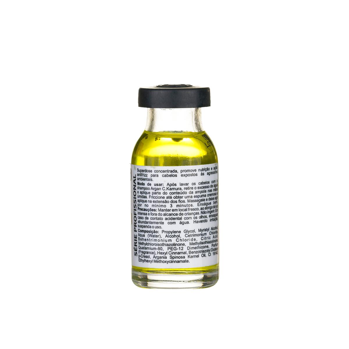 Superdose Autoaquecida Argan Oil CKamura Nutrição Antifrizz 15Ml