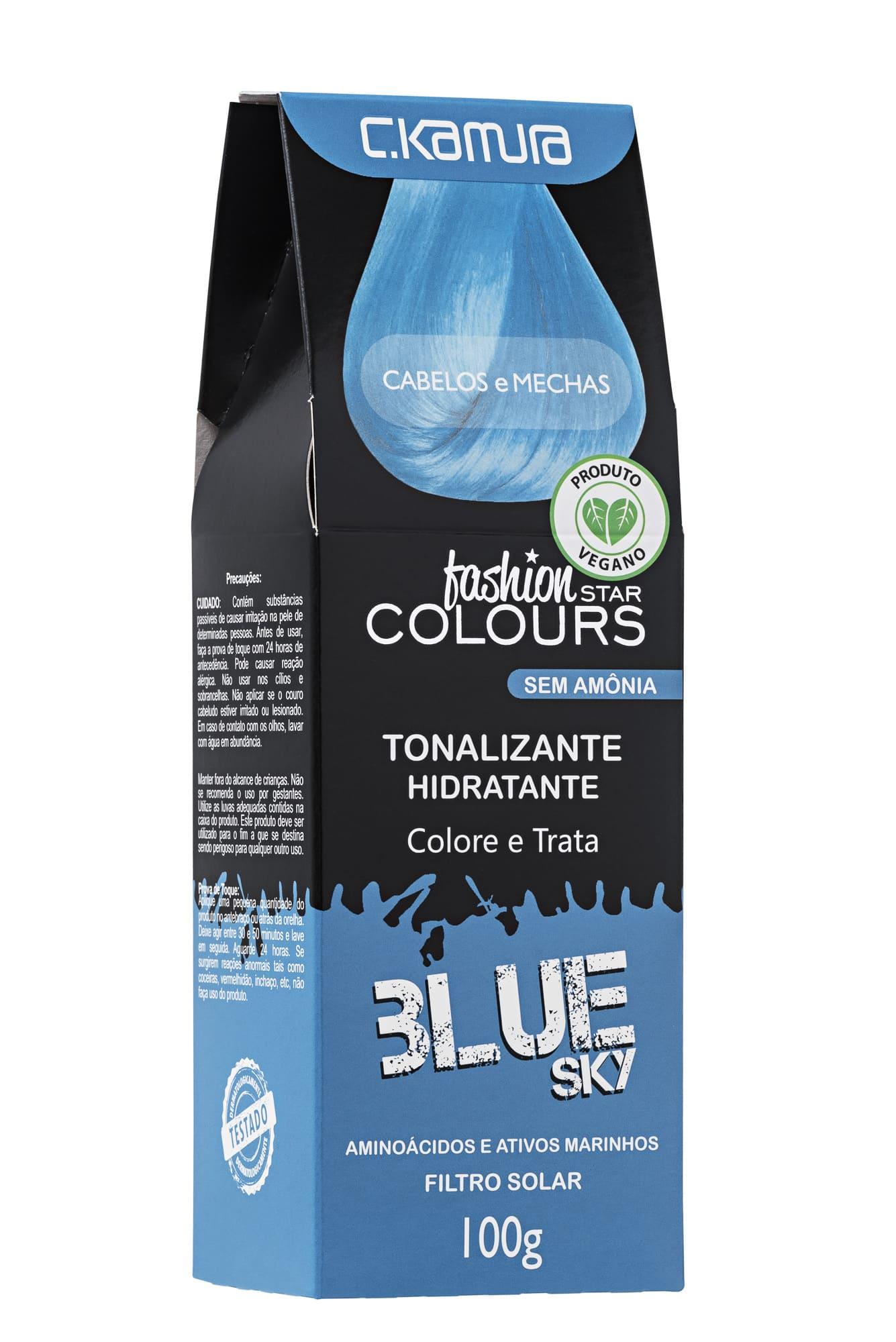 Tonalizante Blue Sky Azul Claro Fashion Star Colours  Ckamura