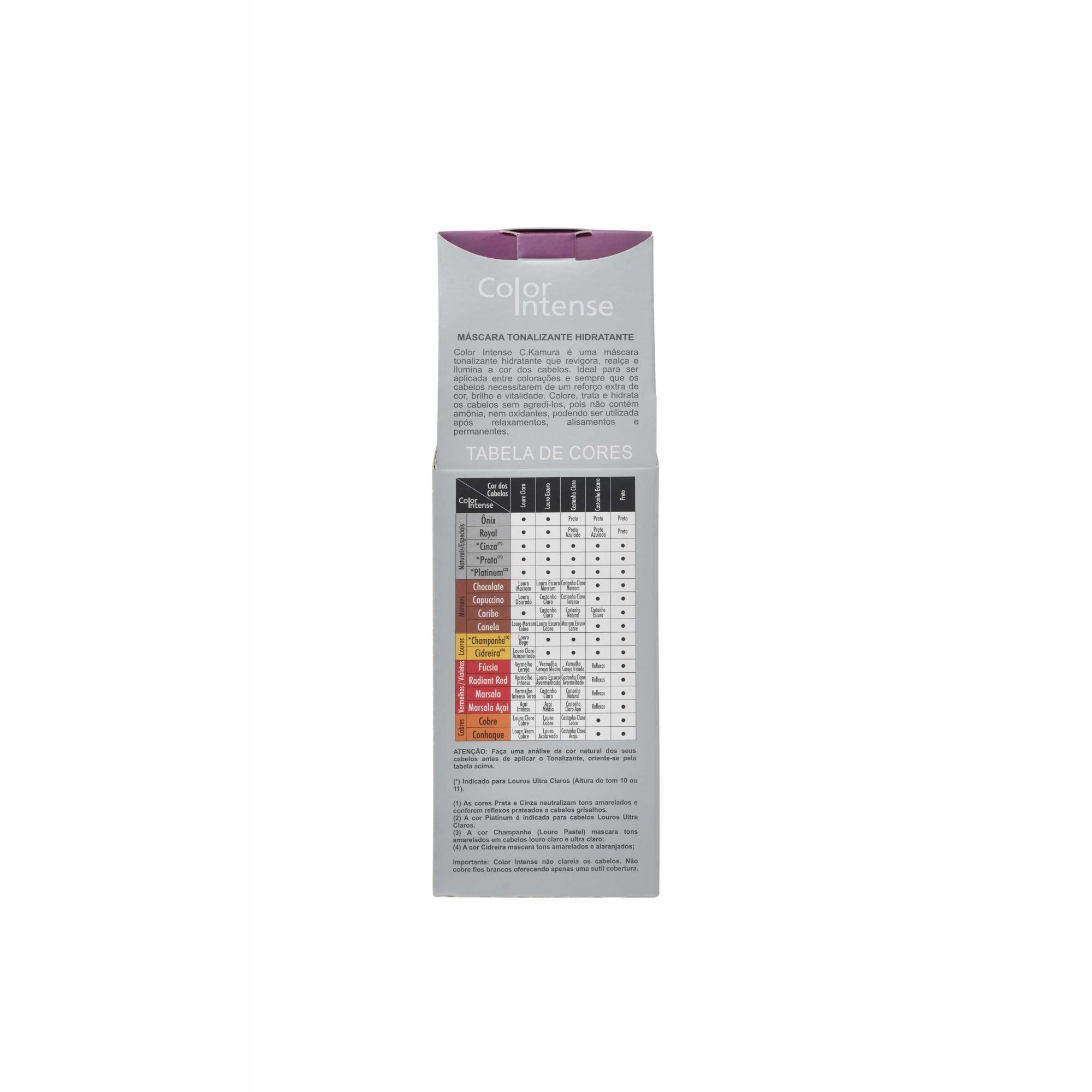 Tonalizante Color Intense Cinza Ckamura 100g