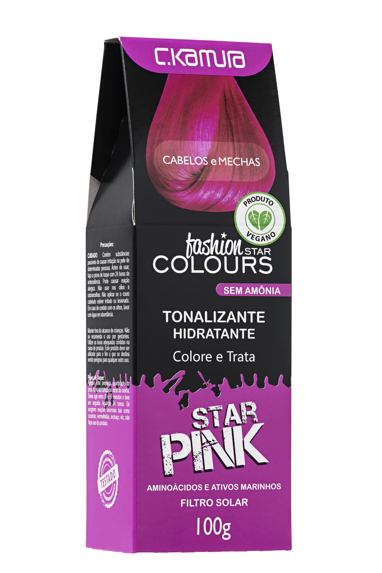 Tonalizante Star Pink Rosa Fashion Star Colours Ckamura