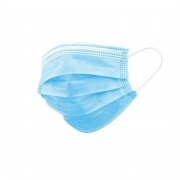 Máscara Azul Descartável - Triplas TNT com Elástico e Clip Nasal - Acima de 50 unidades