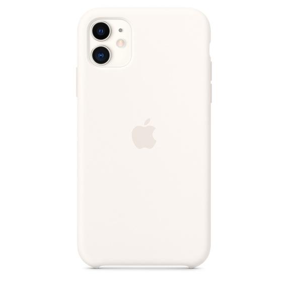 Capa de Silicone iPhone 11 - BRANCO