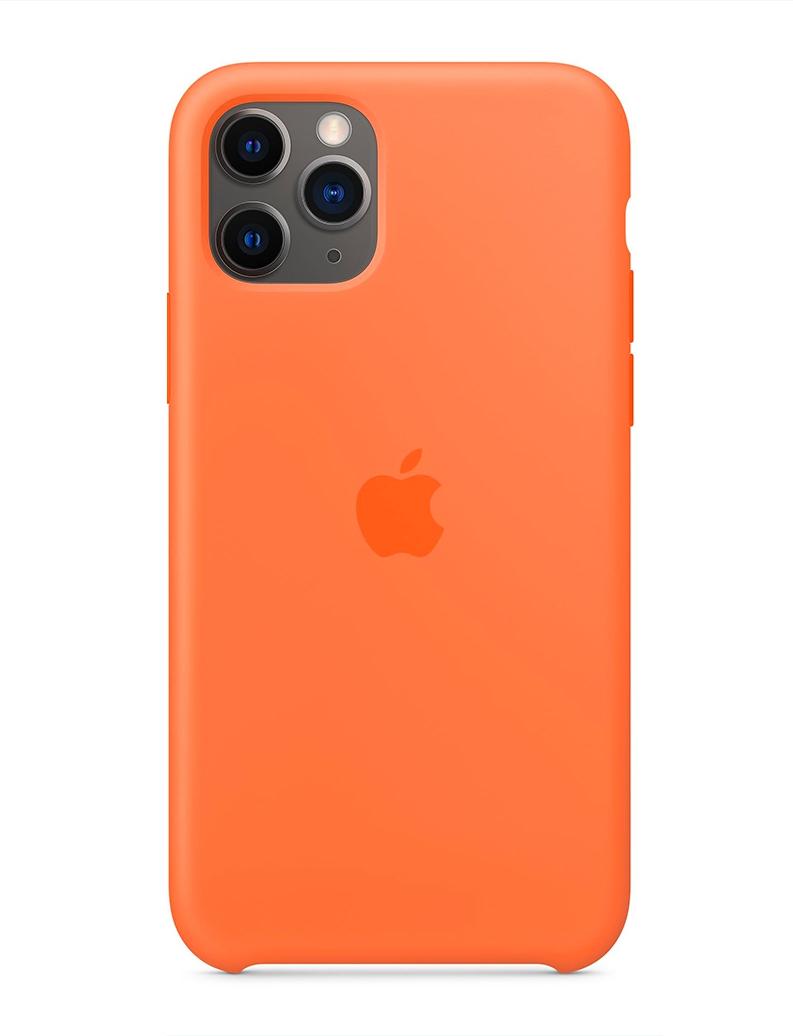 Capa de Silicone iPhone 11 - LARANJA