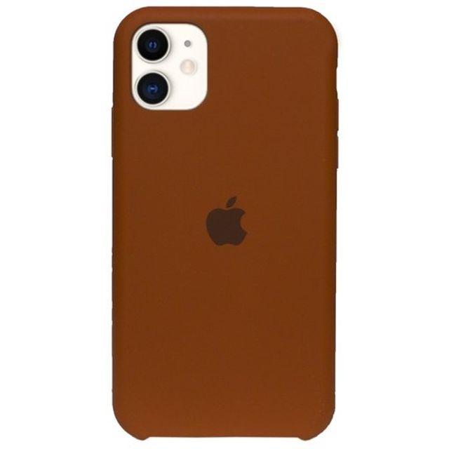 Capa de Silicone iPhone 11 - MARROM