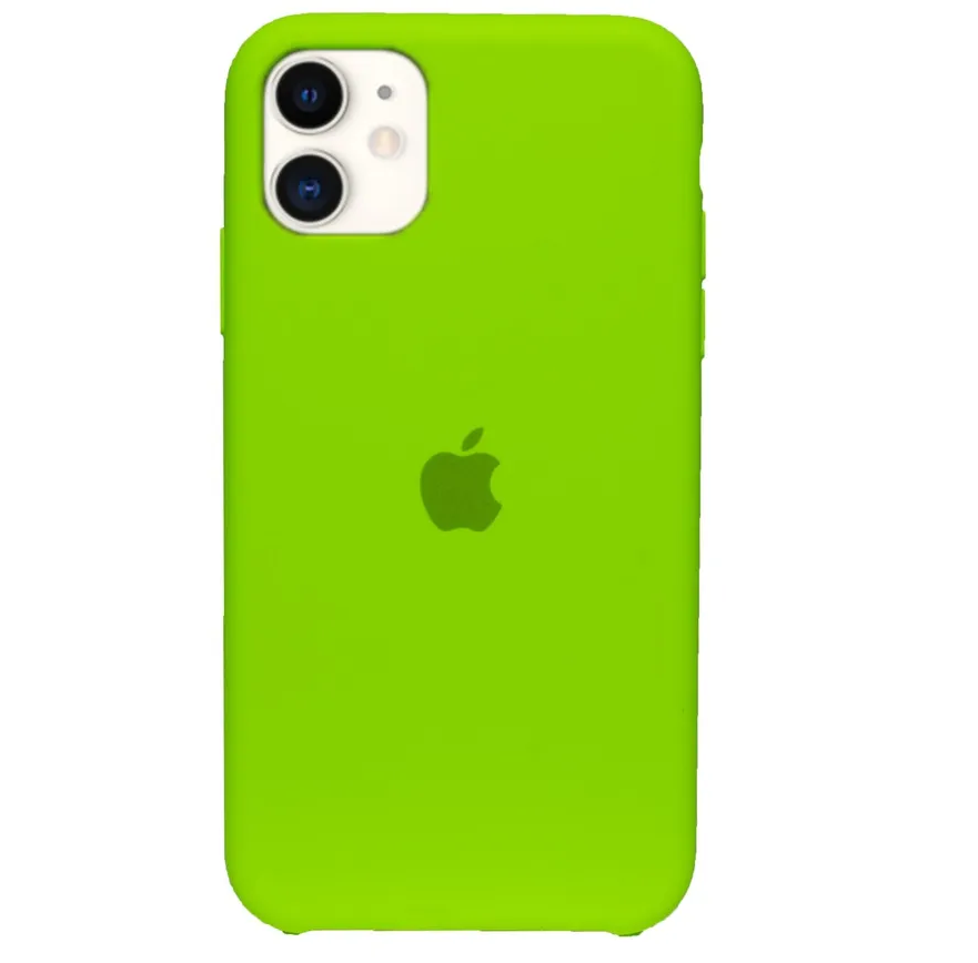 Capa de Silicone iPhone 11 - VERDE CLARO