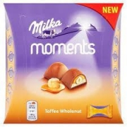 BOMBONS MILKA MOMENTS TOFFEE WHOLENUT 97G
