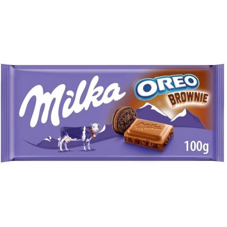 CHOC MILKA OREO BROWNIE 100G